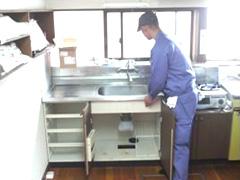 M様邸キッチン水栓取替え工事に伴う配管工事